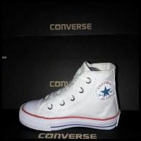 Best Seller! Sepatu Converse Anak Kids Putih Perekat Tali Pendek
