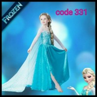 Limited Stock! Kostum Elsa Frozen Import Baju Dress Pesta Ulang Tahun