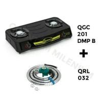 kompor gas QUANTUM QGC -201 DMP-B free selang paketquantum,api biru