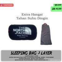 Tiga Layer Sleeping Bag 3 Lapis Polar Dacron Parasut Extra Tebal Hanga