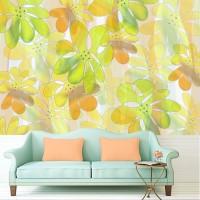 Wallpaper Custom Motif Floral/Daun
