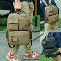 BACPACK CANVAS. BODY PACK. TAS RANSEL. TAS ORIGINAL. BAG KANVAS ORIGIN
