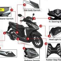 Paket Aksesoris Resmi Motor Honda Vario 125 & 150 Esp Silver 7 Item
