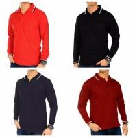 promo murah Grosir Kaos Polo Lengan Panjang Polo Shirt Kaos Polos Len