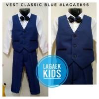 vest anak premium NAVY usia 5 6 7 8 9 10 tahun tuxedo Blueconvero4in1