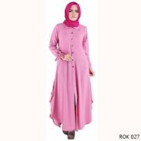 terbaru Baju Gamis Pink Cantik Simple Modern