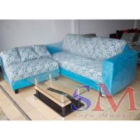 Sofa kursi Tamu L Minimalis, sofa sudut murah + MEJA TAMU