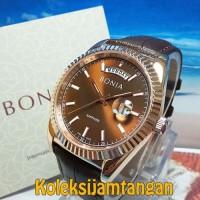 JAM TANGAN PRIA BONIA BNB10315-3542 ROSEGOLD BROWN ORIGINAL