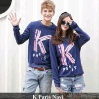 Lengan Panjang Couple Simple - Baju Kembaran Murah - K Paris Navi