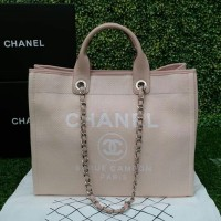 TAS CHANEL DEAUVILLE SOFT PINK MIRROR QUALITY