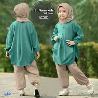 stelan nuna kids tosca/atasan blus celana hijab anak/blouse tunik anak