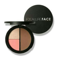 3IN1 BLUSH HIGHLIGHT CONTOUR FOCALLURE FACE MAKEUP PALETTE