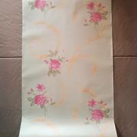 wallpaper stiker uk 45cmx10m kode no 7036 rose pink ulir gold