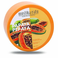 Mustika Ratu Papaya Body Scrub - Body Scrub Pepaya - Lulur Pepaya 200G