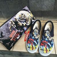 Sepatu Vans Iron Maiden Slip On Premium Waflle ICC