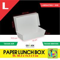 Paper Lunch Box / Kotak Makan Polos Ukuran L + Laminating