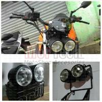 Headlamp - Reflektor Lampu Depan Double Classic Custom Japstyle Harley