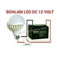 Jual 15W Bohlam Dc 12V Lampu Led Aki Solar Cell Panel Surya Murah