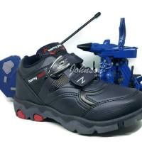 Sepatu Sekolah Anak HOMYPED REPEAT 02 Black BERHADIAH JET TRANSFORMER