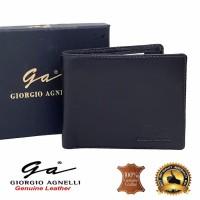 Giorgio Agnelli MIL 543R Dompet tidur pria kulit asli branded import