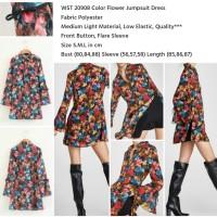 Jual Color Flower Jumpsuit Dress (size S.M.L) Murah