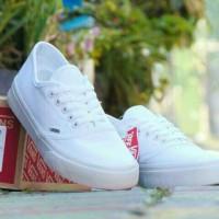 sepatu vans authentic wafle dt full white putih polos bukan replika