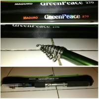 Joran Pancing Maguro Green Peace 270 Cm Modifikasi Pegeg Reel Pancing