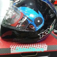 helm kyt x-rocket sport size M black blue Limited