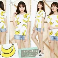 Harga terlaris pf 1011 banana ranto tee pakaian wanita sweater setelan | Pembandingharga.com