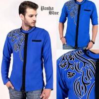 Pasha Blue AK baju koko pria rayon bangkok biru