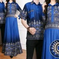 Cp Miranda Baju Couple muslim lengkap kemeja pria dan gamis wanita