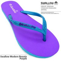 terbaik Sandal Jepit Swallow Beauty Modern Female [Purple]