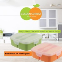 kotak makan bonus sendok garpu golden sunkist tnk 1028