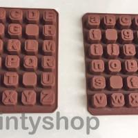 Jual Cetakan Coklat Silikon Huruf / Cetakan Puding / Cetakan Jelly Murah