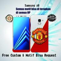 Garskin HP Samsung A8 2018 Motif M United - motif bisa request