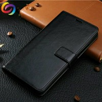 Casing HP Cover Leather Case Samsung J2 Prime Flip Black