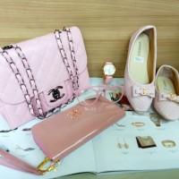 tas wanita tas terbaru 2018 tas selempang chanel dompet warna pink