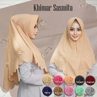 jilbab kerudung khimar hijab instan Sasmita bubble pop