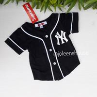 Baby Baseball Tee Black / Baju Kaos Baseball Bayi Warna Hitam