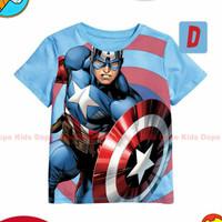 Baju anak cwok.. T-Shirt Captain Amerika (import)..