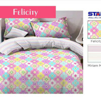 sprei murah merk star/bintang kecil motif felicity 2 uk 160x200