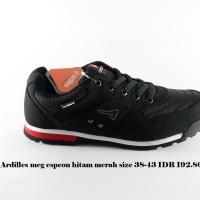 ardiles mcg espeon sepatu kets pria hitam merah