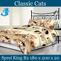 Tommony Sprei King B2 180 x 200 - Classic Cats