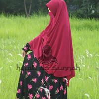baju gamis syari bahan wolfis / woolpeach busana muslimah dress syar'i