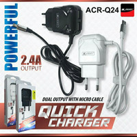 Charger HP 2 USB 2,4 A Samsung Asus Xiaomi Lenovo Android Merk Army