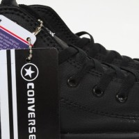 JUAL Sepatu CONVERSE All Star CT High Leather Full Black Kulit Hitam