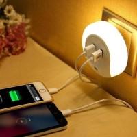 New! Lampu Tidur Otomatis Nyala Dengan 2 Usb Port Unik