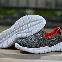 Sepatu Sport Casual Adidas Slip On Slop Coklat Merah Tanpa Tali