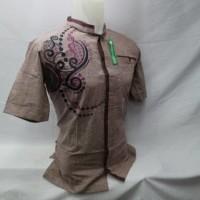 Baju Muslim Pria Baju Koko Bordir Lengan Pendek Murah Grosir KIT 066 T