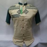 Baju Muslim Pria Dewasa Baju Koko Lengan Pendek Tanah Abang KWV 063 T5